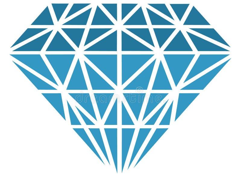 Vector diamant royalty-vrije illustratie