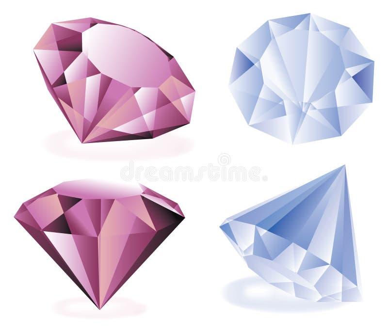 Vector diamanten vector illustratie