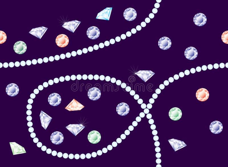 Vector diamanten en perls vector illustratie