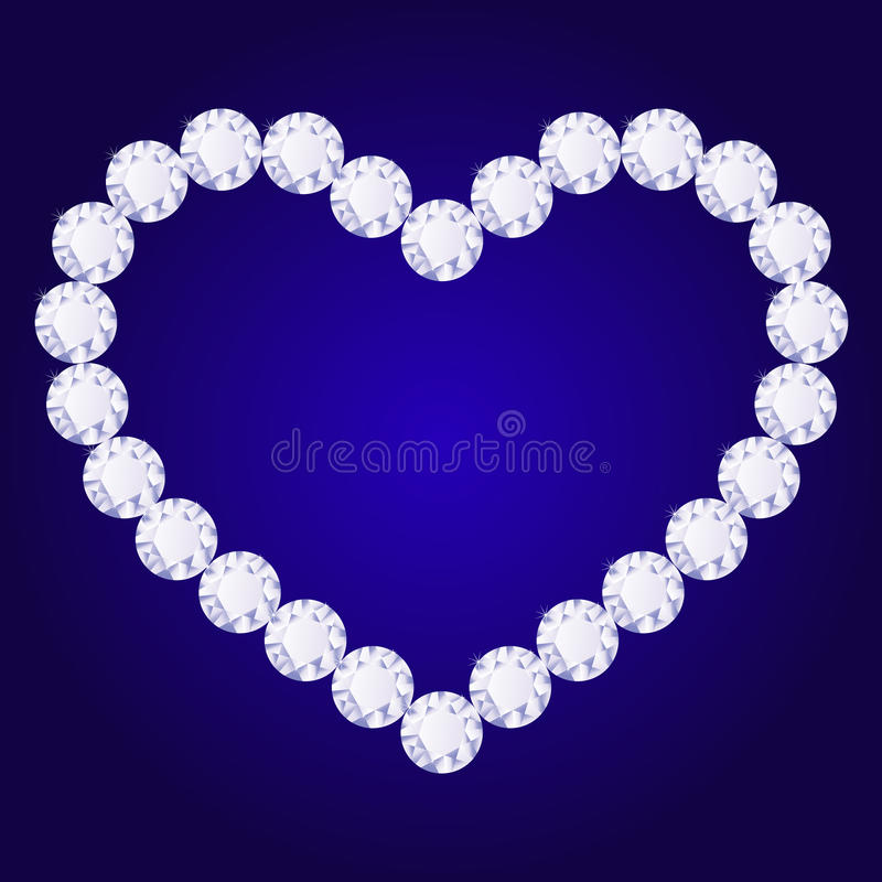 Download Vector Diamond Heart Royalty Free Stock Photography - Image: 33536467