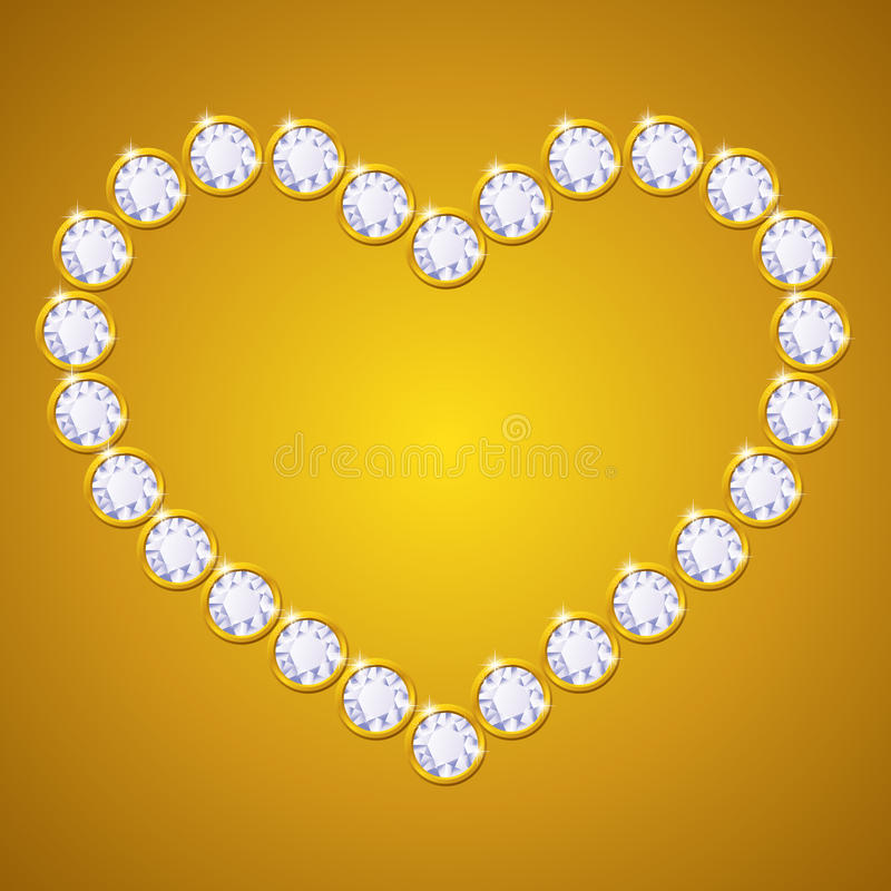 Download Vector Diamond Heart Stock Images - Image: 33536484