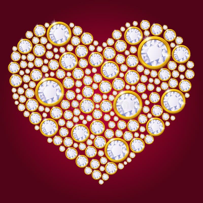 Download Vector diamond heart stock vector. Image of classy, jewel - 33536516