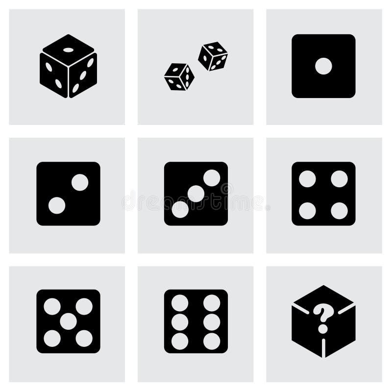 Vector dice icon set vector illustration
