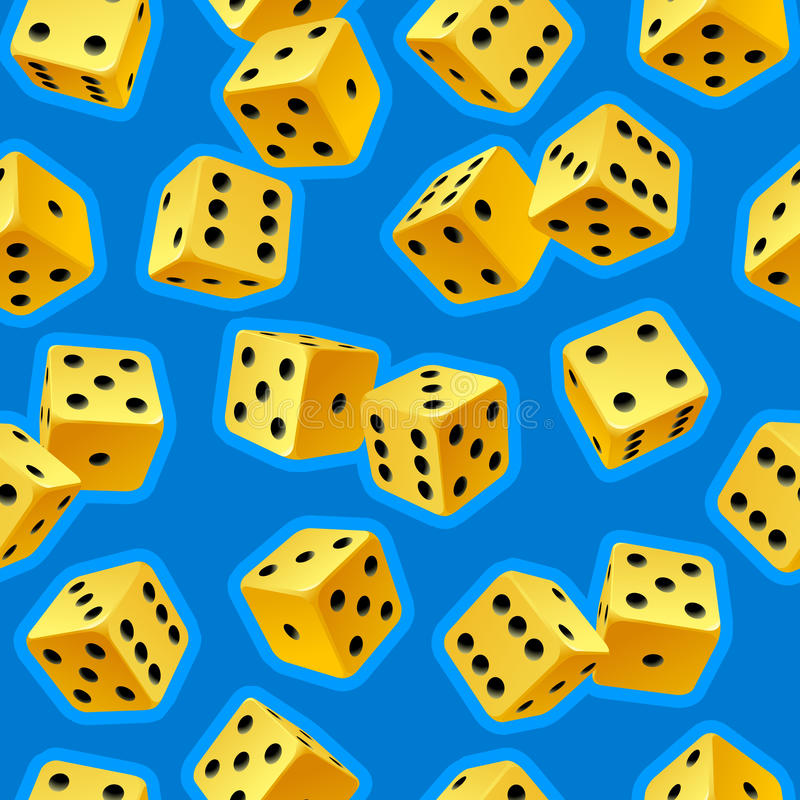 Vector dice seamless background 2 vector illustration