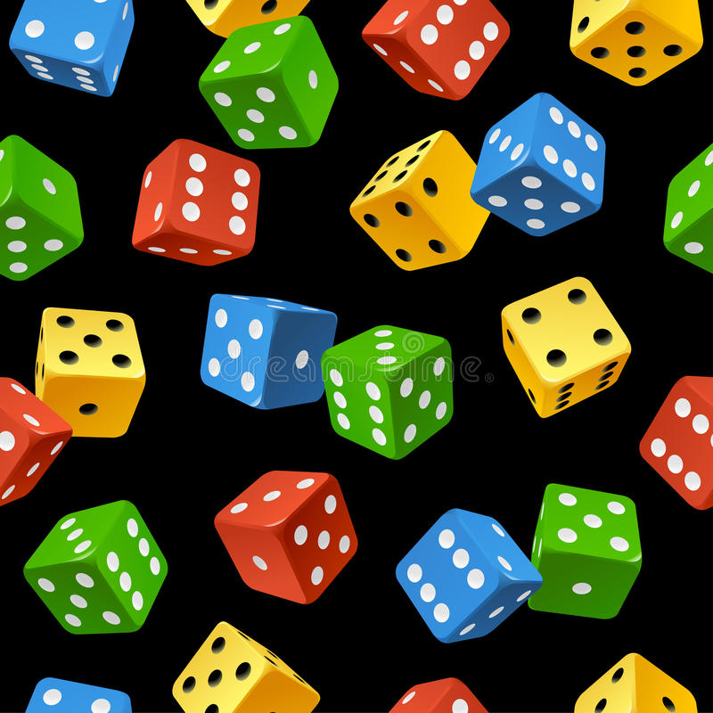 Free Vector Dice Seamless Pattern Isolated On White Bac Royalty Free Stock Photography - 31939727