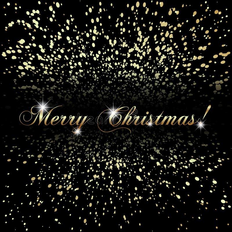 Vector die abstrakten frohen Weihnachten oder neues Jahr, die golden sind vektor abbildung