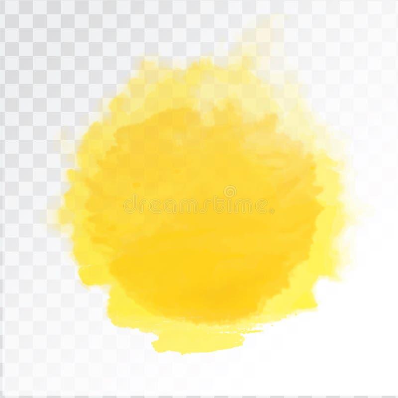 Vector die Aquarellsonne, lokalisiert auf transparentem Hintergrund Abbildung vektor abbildung