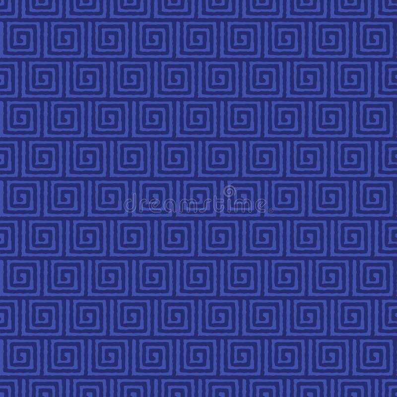 Vector die Grieks ornament naadloos patroon verpakt vector illustratie