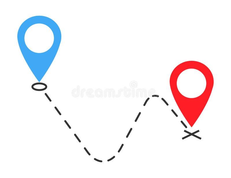 Vector die Ikone, Symbol bewegtes Mitteilungsdesignbild lokalisiert auf weißem Hintergrund stock abbildung