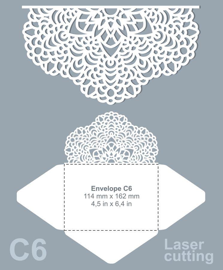 Vector die laser cut envelope vector illustration