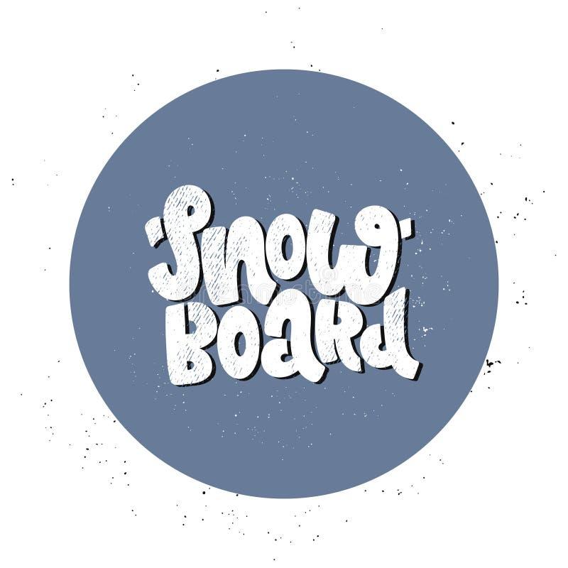 Vector die snowboard van letters voorzien stock illustratie