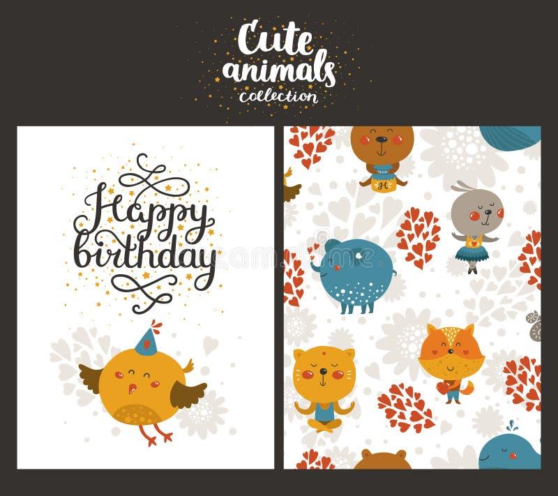 Vector dierlijke kaarten stock illustratie