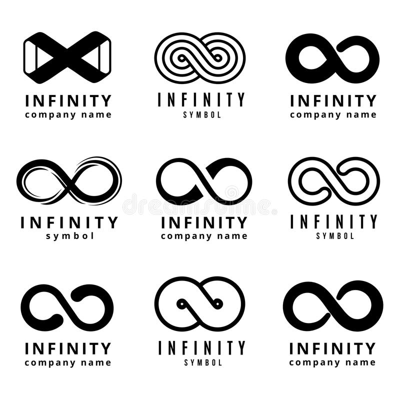 Vector Different Infinity Logos Set Stock Vector Illustration Of