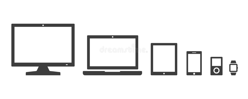 Vector Digitaal die Apparatenpictogram op witte achtergrond wordt geïsoleerd vector illustratie
