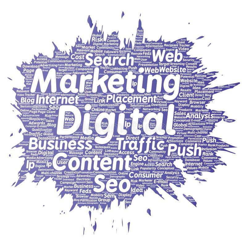 Vector digitaal marketing seoverkeer stock illustratie