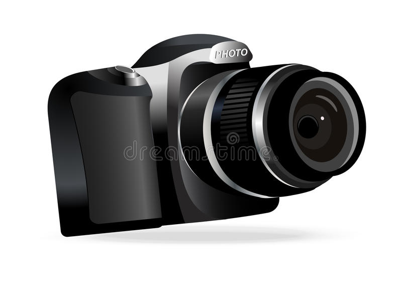 Download Vector Digital Camera On White Background Stock Vector - Image: 26581179