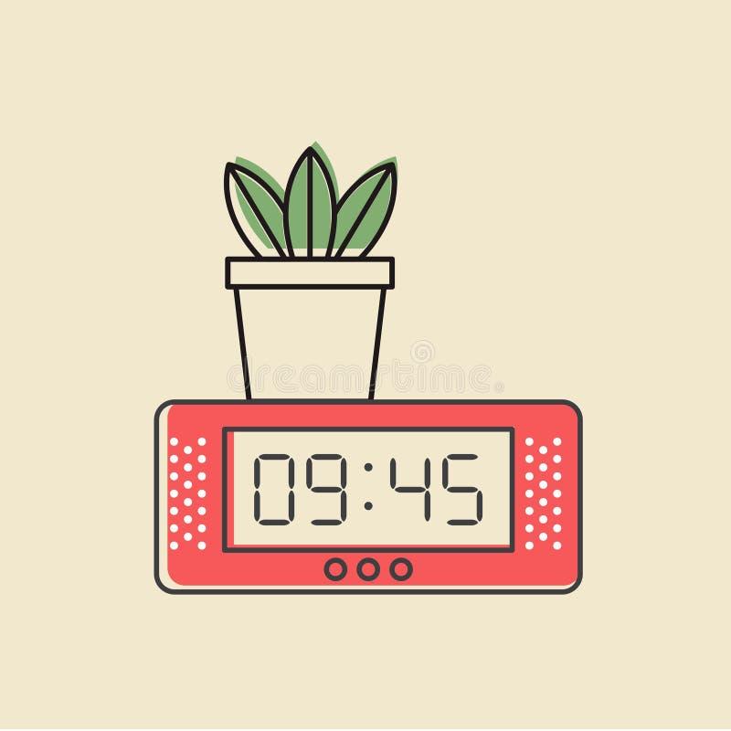 Vector of digital clock icon stock illustration