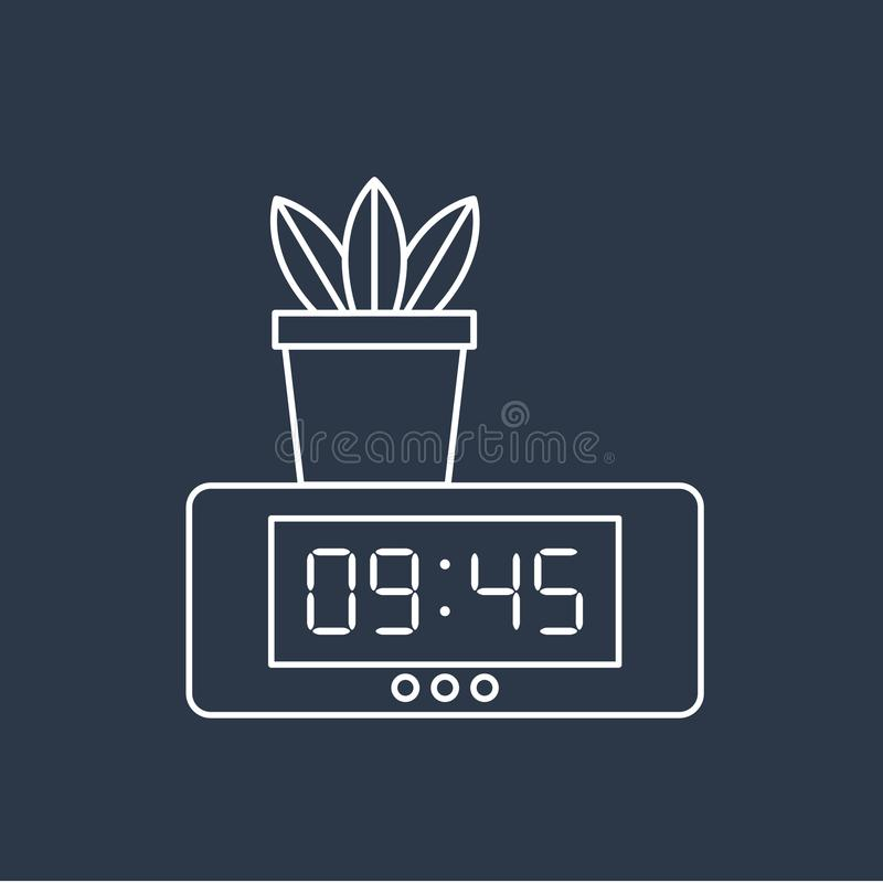 Vector of digital clock icon vector illustration