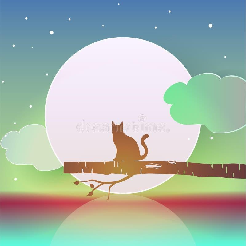 vector digital del ejemplo del gato de la silueta libre illustration