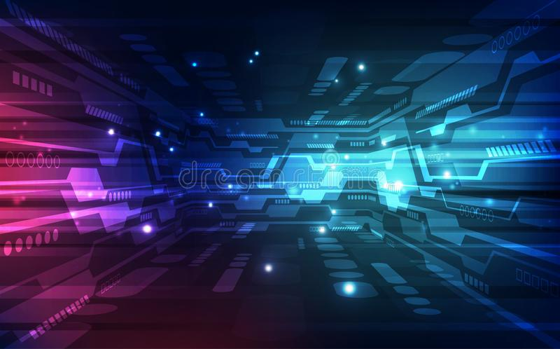 Vector digital global technology concept, abstract background royalty free illustration