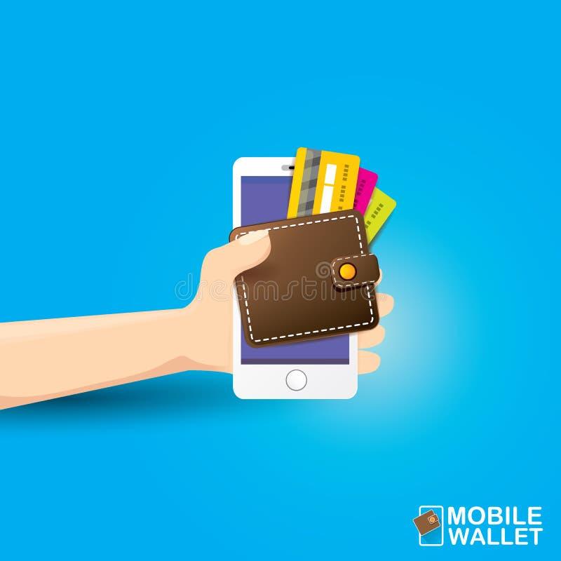 Vector Digital Mobile Wallet Vector Concept Icon. Stock ...