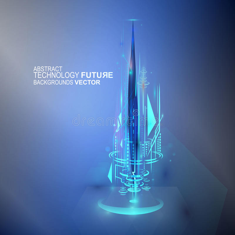Vector digital technology future concept, abstract background vector illustration