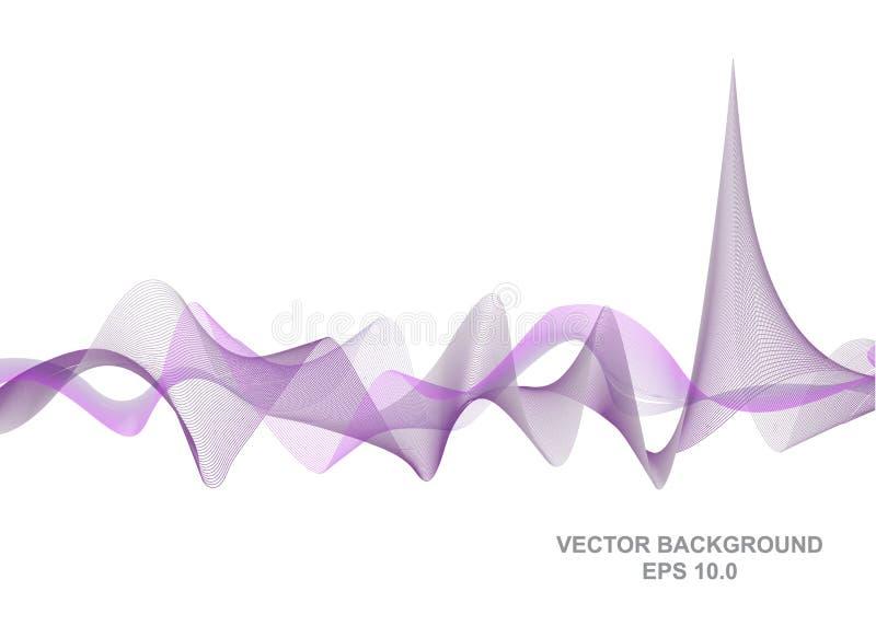 Vector digitale correcte golftechnologie, abstracte achtergrond royalty-vrije illustratie