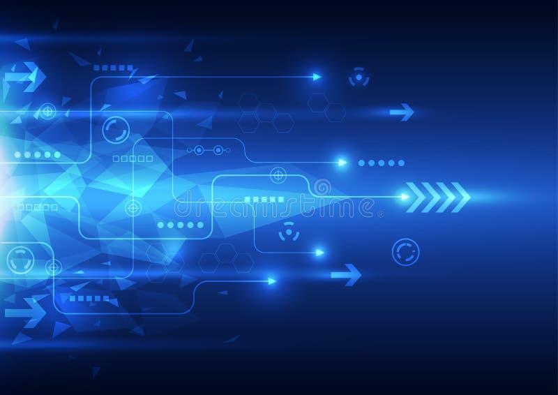 Vector digitale snelheidstechnologie, abstracte achtergrond stock illustratie