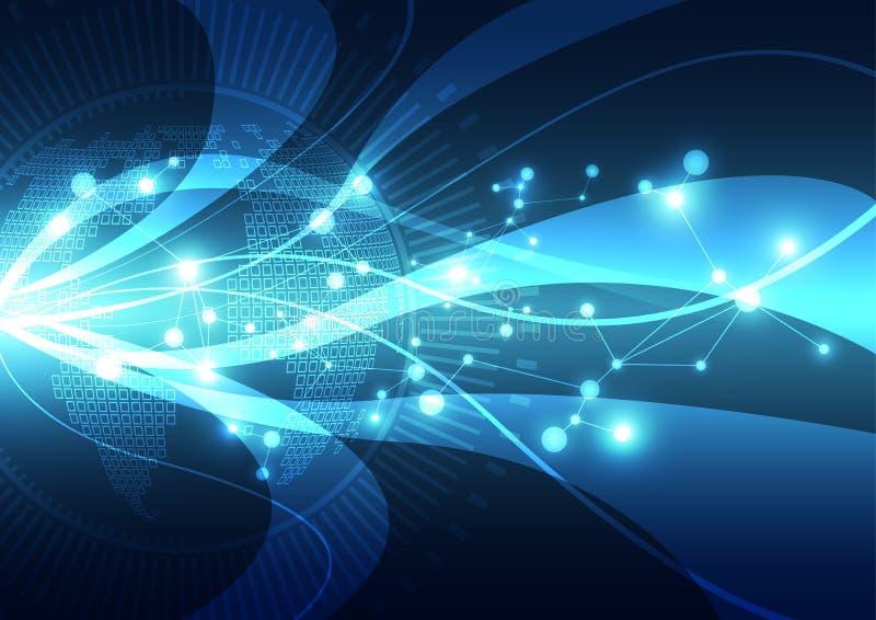 Vector digitales globales Technologiekonzept, abstrakten Hintergrund lizenzfreie abbildung