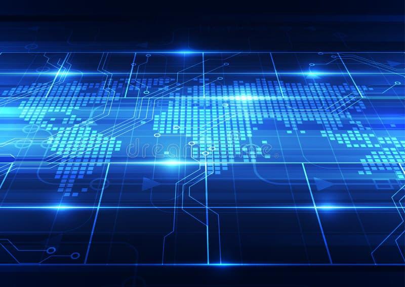 Vector digitales globales Technologiekonzept, abstrakten Hintergrund stock abbildung