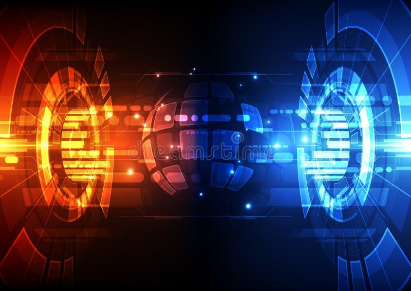 Vector digitales globales Technologiekonzept, abstrakten Hintergrund