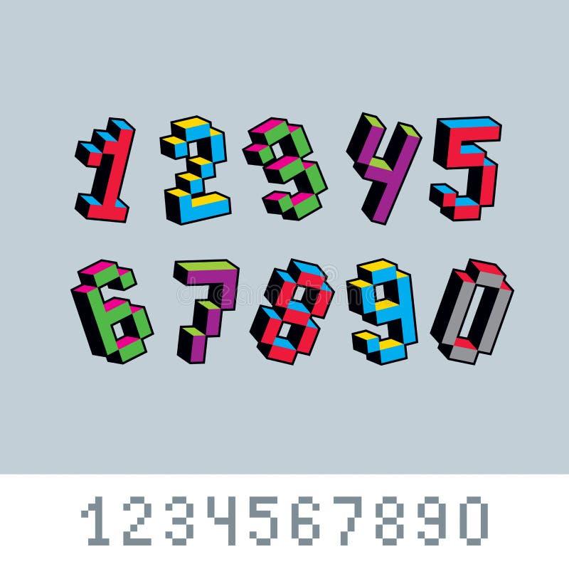 Pixel Art Numbers Stock Illustrations 730 Pixel Art