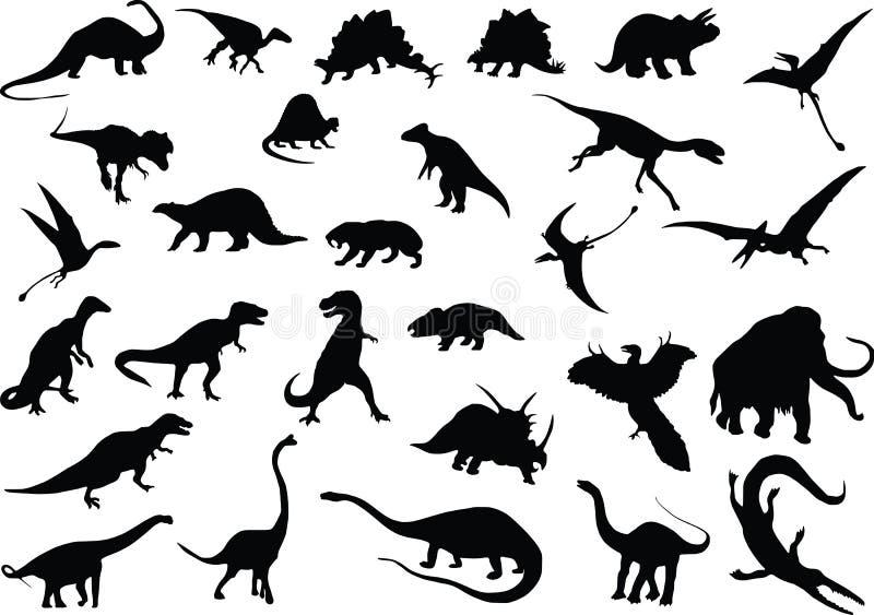 Vector Dinosaurs Stock Photos