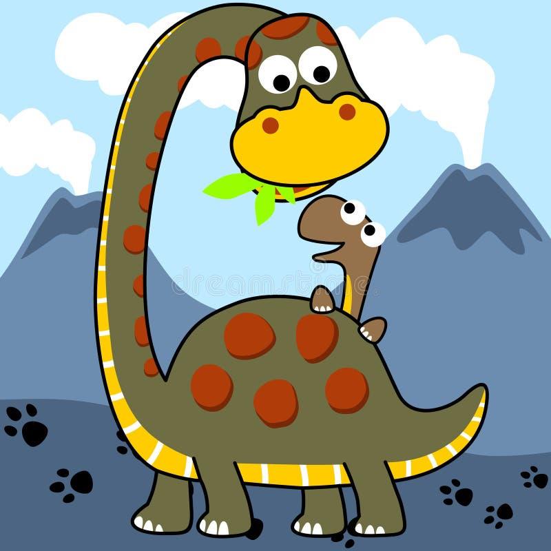 Vector dinosaurs family royalty free illustration