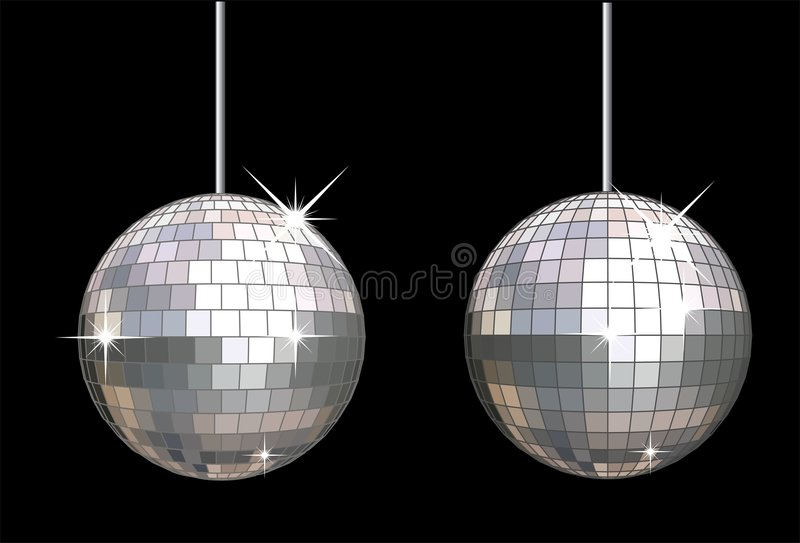 Download Vector disco ball set stock vector. Image of light, painting - 4221213