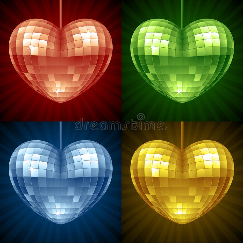 Download Vector Disco Ball In The Shape Of Heart Stock Vector - Image: 28582050