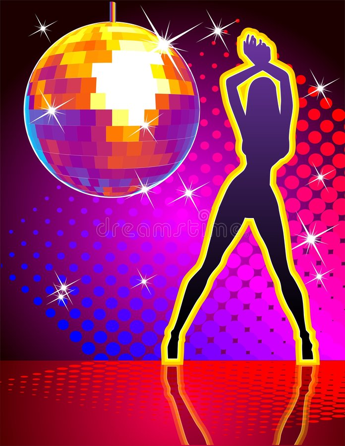 Vector disco party. Vector illustration. Hi-detailed disco ball with abstract background. Include AI-10 file with transparency options