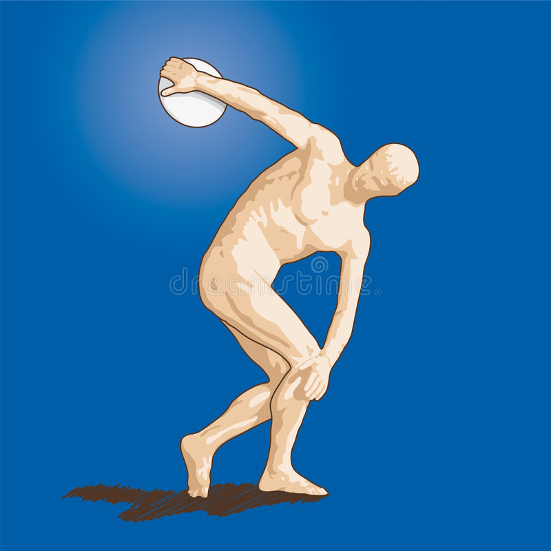 Vector Discobolus Stock Images