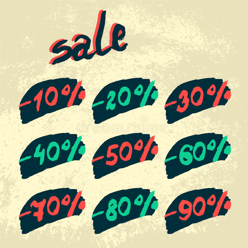 Vector discount labels. royalty free stock photo