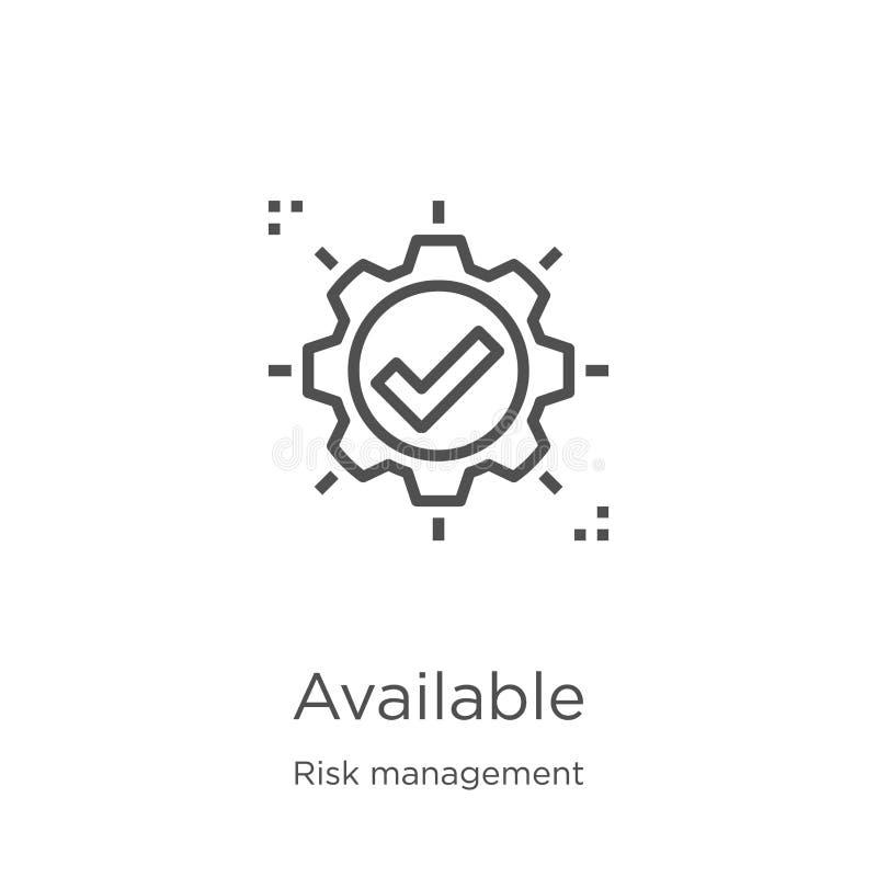 vector disponible del icono de la colección de la gestión de riesgos Línea fina ejemplo disponible del vector del icono del esque ilustración del vector