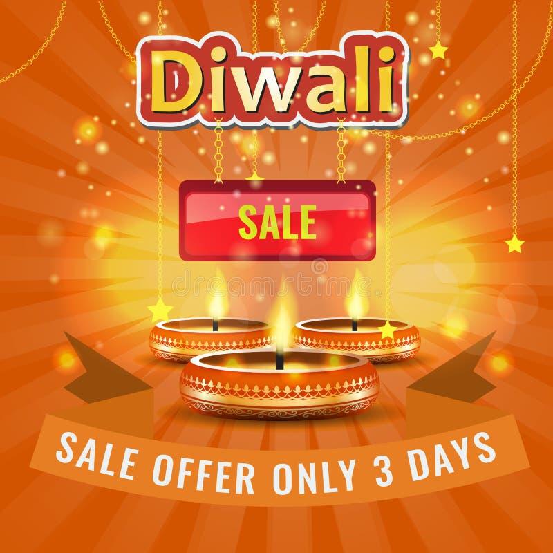 Vector Diwali-Festival-Verkaufsplakat-oder -flieger-oder -anzeige Plan-Schablone vektor abbildung