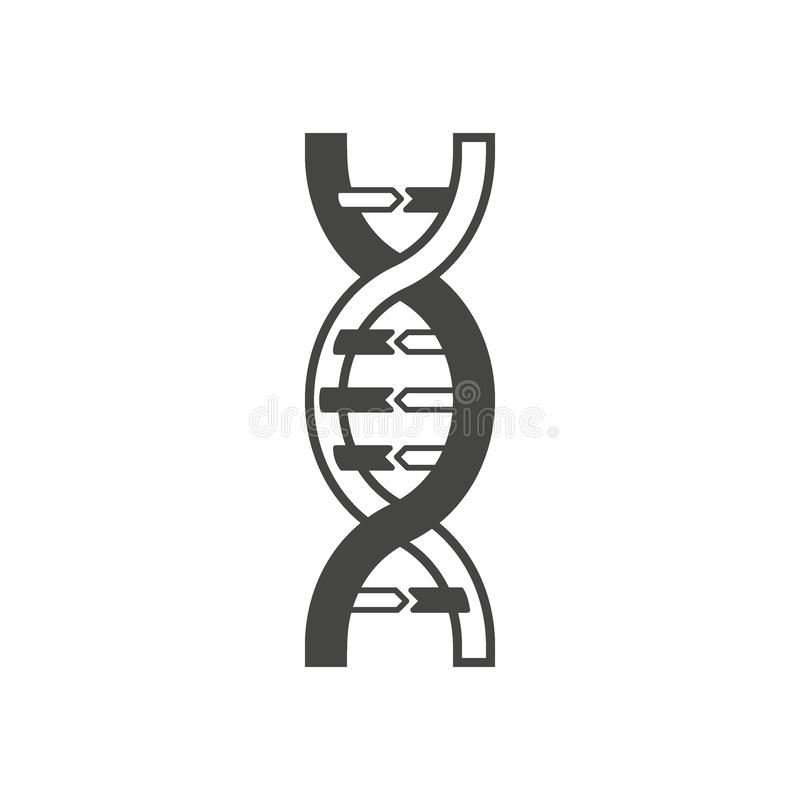 DNA helix symbol, logo or tattoo concept. vector illustration