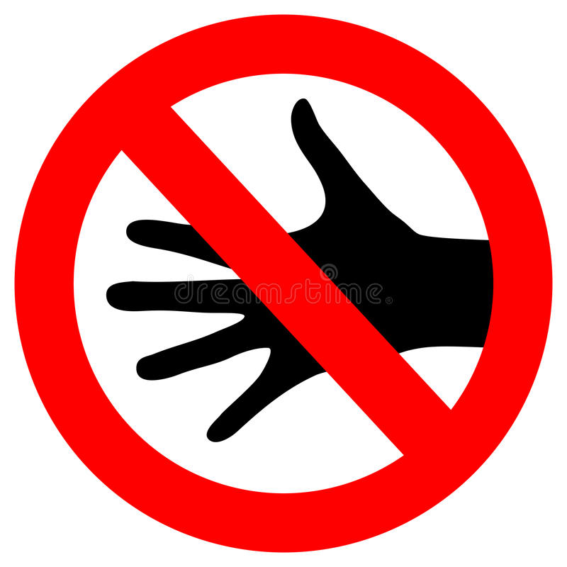 Vector do not touch sign royalty free illustration