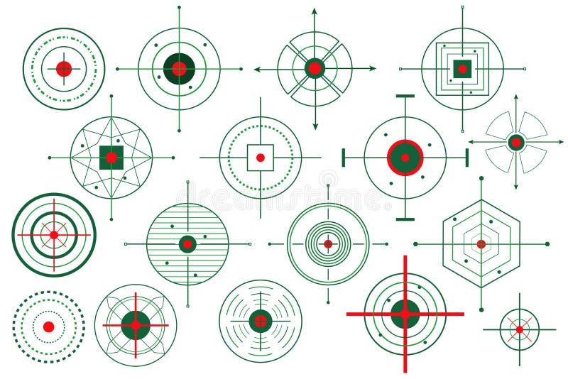 Vector Doel Crosshair vector illustratie