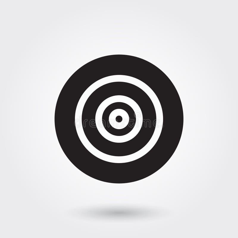 Vector, Doel, Doel, Glyph-Pictogram perfect voor website, mobiele toepassingen, presentatie vector illustratie