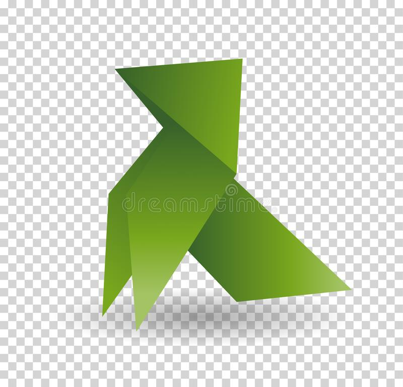 Vector - dog origami animal geometric isolatet on white background. Vector - dog origami animal geometric isolatet on white background royalty free illustration