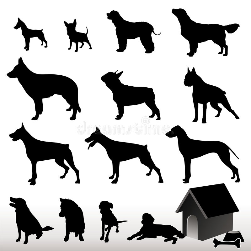 Download Vector Dog Silhouettes Stock Image - Image: 1783531