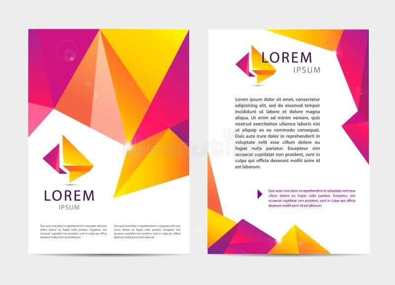 Vector Dokumenten-, Buchstabe- oder Logoartabdeckung lizenzfreie abbildung