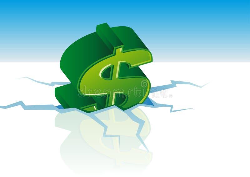 Vector dollarcrisis stock illustratie