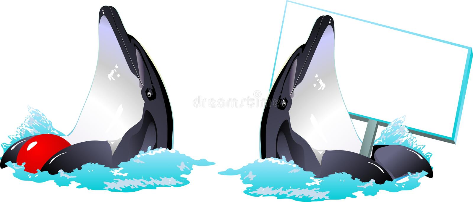 Download Vector with dolphins stock vector. Image of sell, sign - 28563214